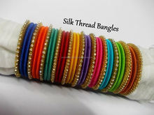 Multicolor thread bangle set, Exclusive Thread Fashion Bangles Bracelets/Wholesale Girls Trendy Bangles