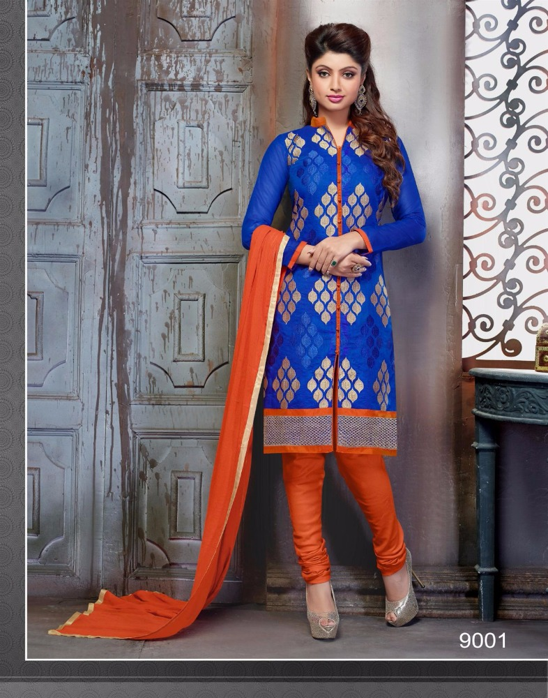 cotton straight cut salwar kameez