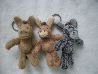 Plush toy Donkey key holders