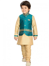 boys wedding shalwar kameez with waistcoat set , Kids wedding suits , Traditional Indian Pakistani Wedding clothing for children
