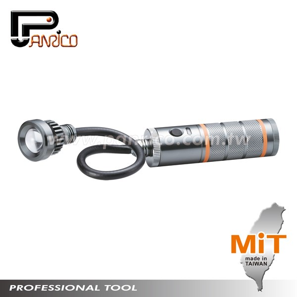 Made in Taiwan 3W High Power Waterproof LED Flashlight LED Torch Flashlight Magnetic LED Work light