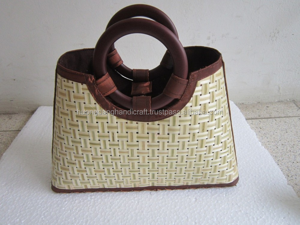 Woman shopping bags, fdshional shopping bags, bamboo bag, item No.HD.SB24