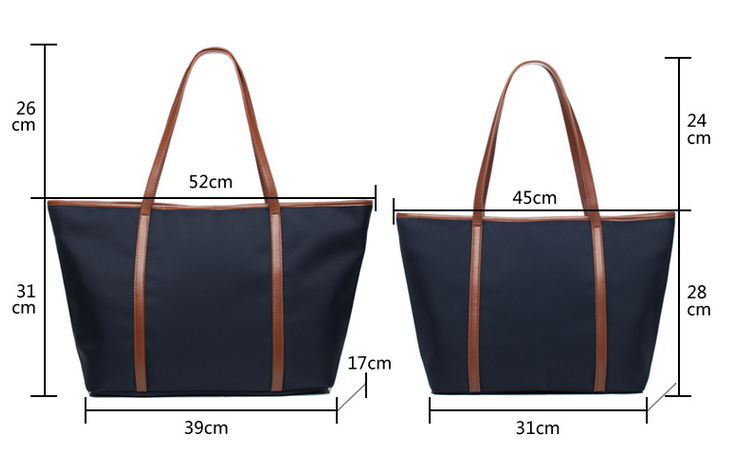 Nylon Lady Shopping Bag Shoulder Strap