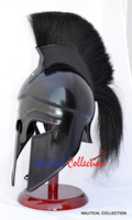 MEDIEVAL GREEK CORINTHIAN REPLICA HELMET WITH WOODEN STAND
