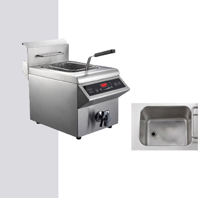 Home and Commercial Kitchen Appliance Stainless Steel Induction Deep Fryer