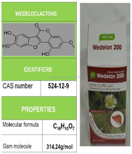 Healthy food names from natural herbal extract to treat a poisonous liver named Wedelolacton