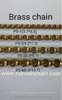 Raw brass Korea brass chains for imitation fashion jewerly