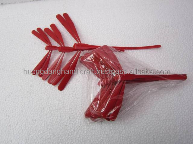 Nice Red Bamboo Self-Balancing Dragonfly for Decor