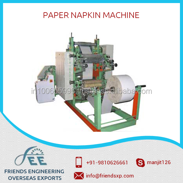 Fully Automatic Paper Napkin Making Machine Requiring Less Maintance