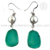Semi Precious Pearl, Turquoise Earring 925 Sterling Silver Jewelry Wholesale Indian Silver Jewelry Online