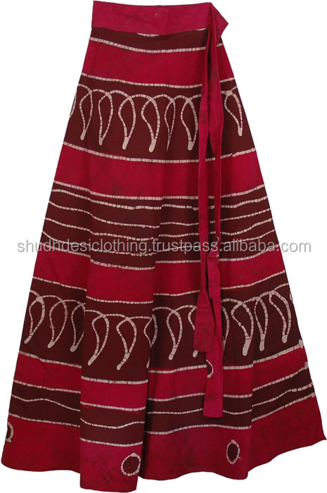 Hippie Boho Gypsy Tribal Batik Cotton Skirt Dress Handmade Casual Sequin Work Long Embroidered Skirts