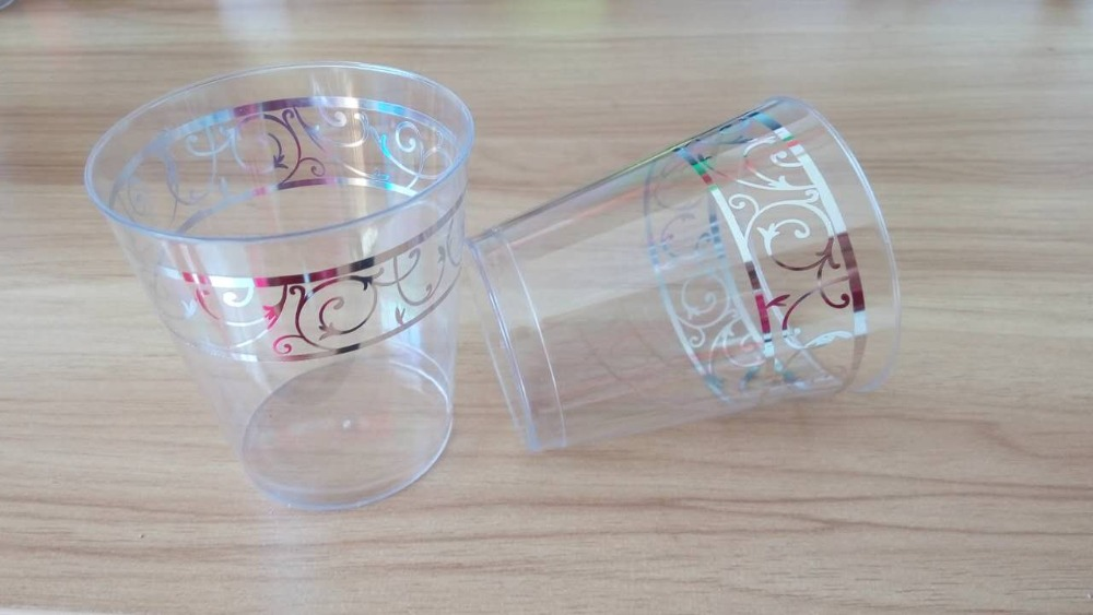disposable plastic cup 7oz with hot stamp