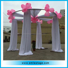 portable pipe and drape round wedding backdrop kits
