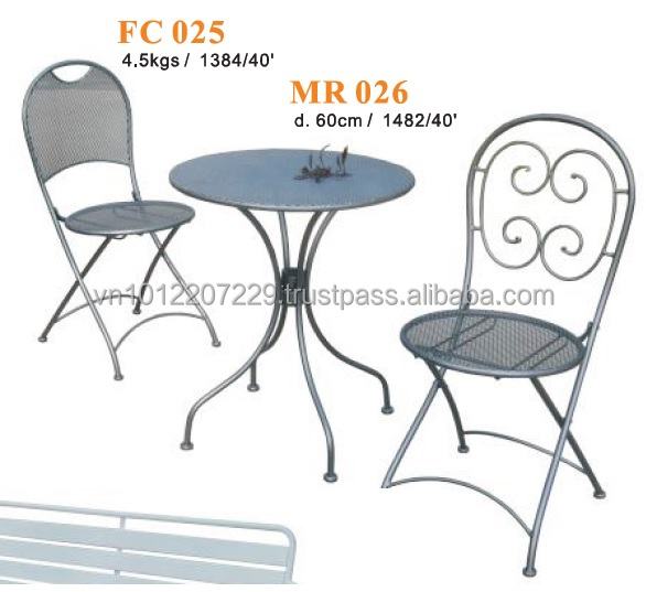 Metal furniture - garden set & bistro set