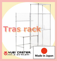 Outstanding easy to move shelving racks for storage container homes with durability