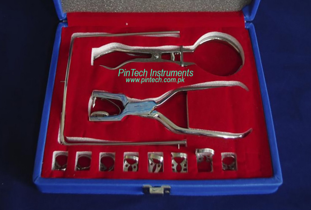 Dental Rubber Dam Instruments Kit Excellent Quality Stainless Steel