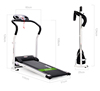 Compact Foldable Treadmill 168DS with 2HP/Heart rate monitor/Light weight