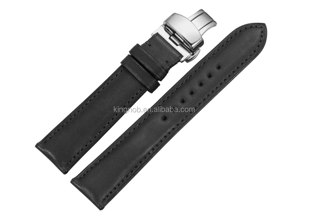18mm to 22mm Handmade France Calf Leather Strap Watch Band