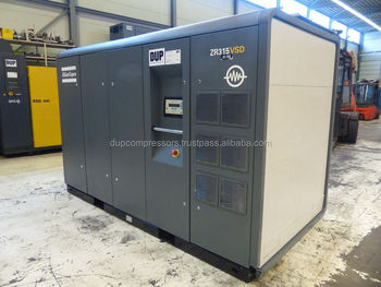 Used rotary screw air compressor Atlas Copco ZR 315 VSD oilfree