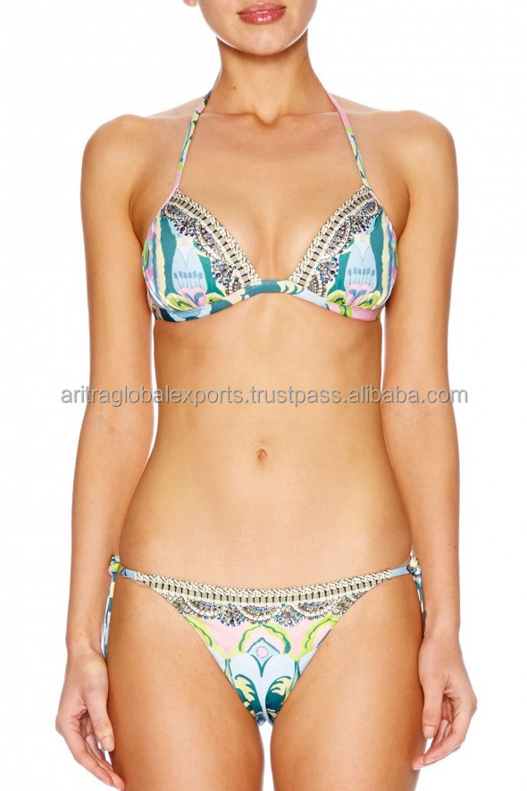 DIGITAL PRINT TRI & CHEEY BOTTOM BIKINI SSS45