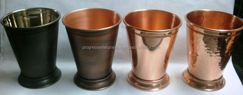Copper Antique Hammered Julep Cup