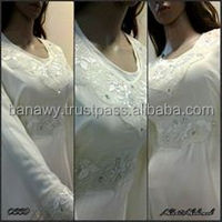 Chiffon hand made embroiderd abaya