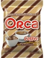 Orca Coffee Flavoured Hard Candy with Chocolate Filling in Pillow Pack