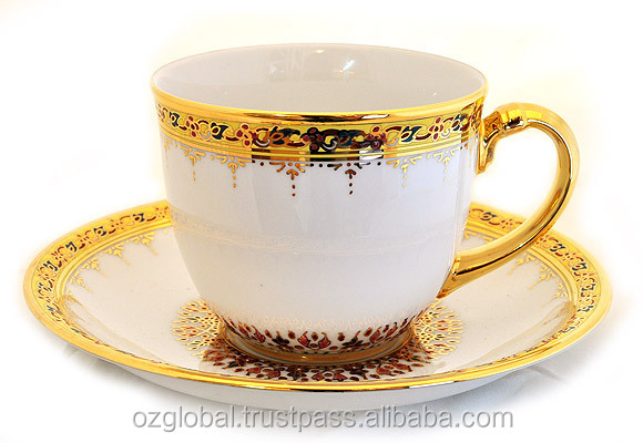 Royal Thai Benjarong Handcrafted Coffee Cup with Gold Plated