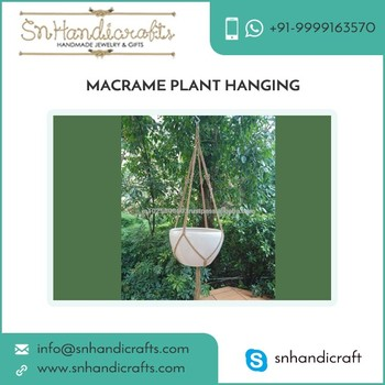 High Demanded Easy to Clean Colorful Macrame Plant Hanging Distributor