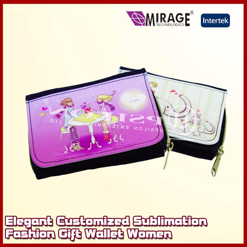 Elegant Custom Sublimation Fashion Gift Women Wallet