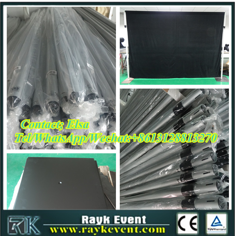 Wholesale pipe and drape/aluminum pipes with black velvet fabric made in China factory
