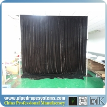2015 premium portable pipe and drape wholesale for fashion stage/wedding/exhibition/photo booth/ concert decoration