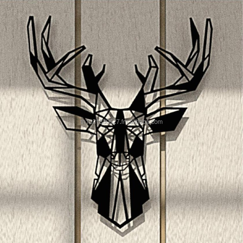Mini Steel Deer Head Wall Mounted Accessories Hanger Industrial Minimalist Interior home decoration