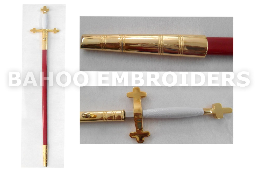 Knight Mason Sword With Red Scabbard | Sword