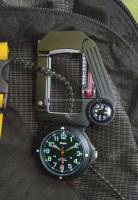Traverse Tool #330 LED light/watch/compass/thermometer/signal mirror/carabiner