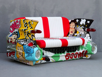 Car sofa hand painted in Pop Art