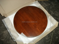 Solid Rubberwood Wooden Restaurant Table Top (Round or Square)
