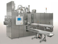 Compact bottelpack(R) installation for the production of ampoules in PE, PP or other plastics. Volumes from 0.2 ml up to 60 ml.