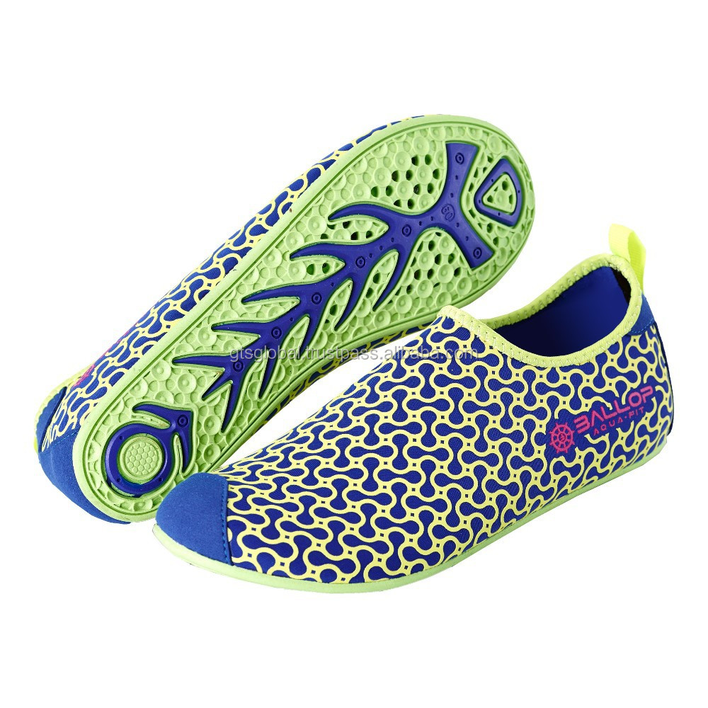 Non slip aqua shoes, Swim shoes, Water sports shoes, Fitness, Gym shoes, Yoga shoes, Driving shoes---BALLOP PEANUT NAVY