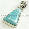 Larimar !! Semi Precious Stone Silver Jewelry /Handmade Silver Jewelry /Wedding Collection Of Pendant PNCB1569-36