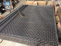 galvanized crimped wire mesh vibration screen / sieving mesh