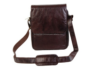 Brown Genuine Leather Shoulder Cross Body Sling Bag
