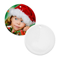 Sublimation Blank Ceramic Christmas Tree Ornament