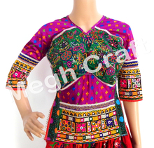 Gujarati Embroidered Kutchi Mirror Work Blouse- Banjara Embroidered Mirror Work Blouse