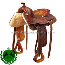 New Brown Western Leather Endurance Western Horse Gaited Tooled Saddle Tack