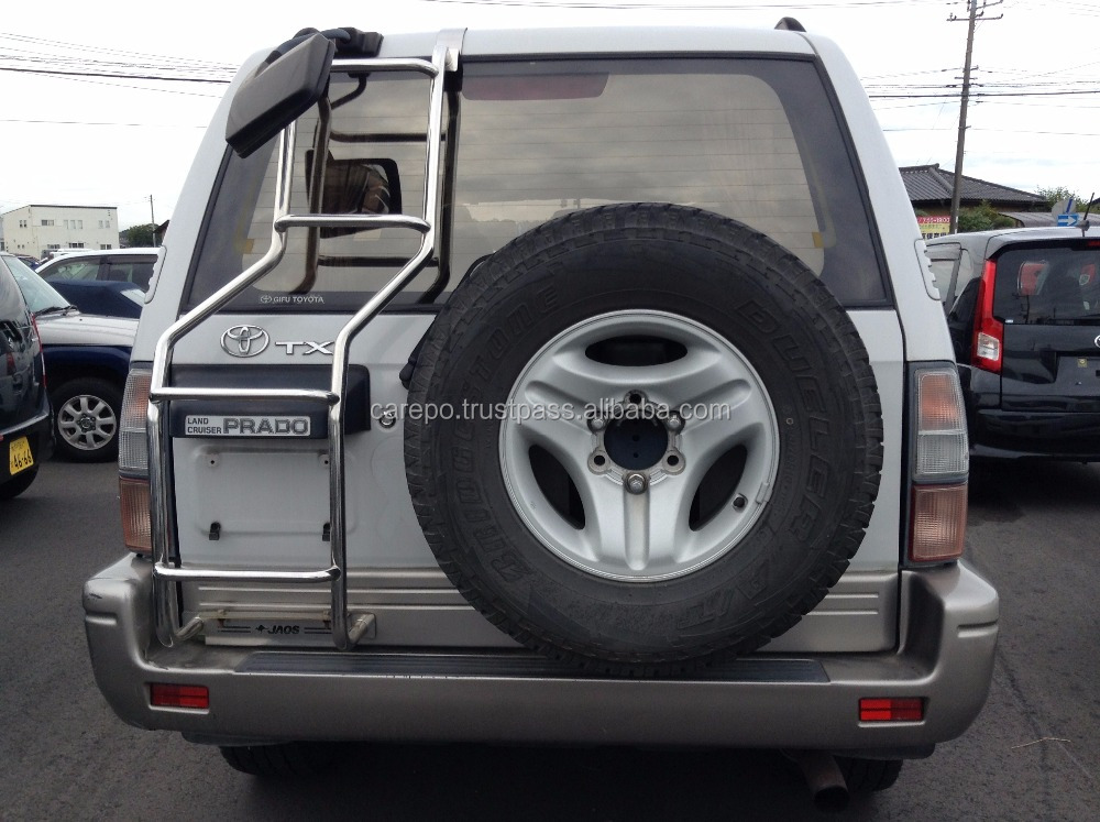 USED ACCIDENT DAMAGED CARS FOR TOYOTA LAND CRUISER PRADO TX WIDE 1999 EXPORT FROM JAPAN