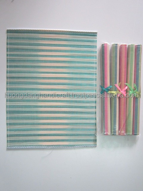 Traditional style bamboo table mat in eye-catching color, meaningful gift for relatives and friends from Vietnam villages