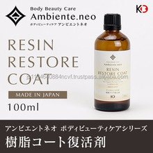 Automotive resin restore wax for repellant raindrop glass coating