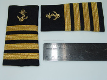 Pilot Epaulettes Captain Epaulettes Three Gold Bar With Anchor