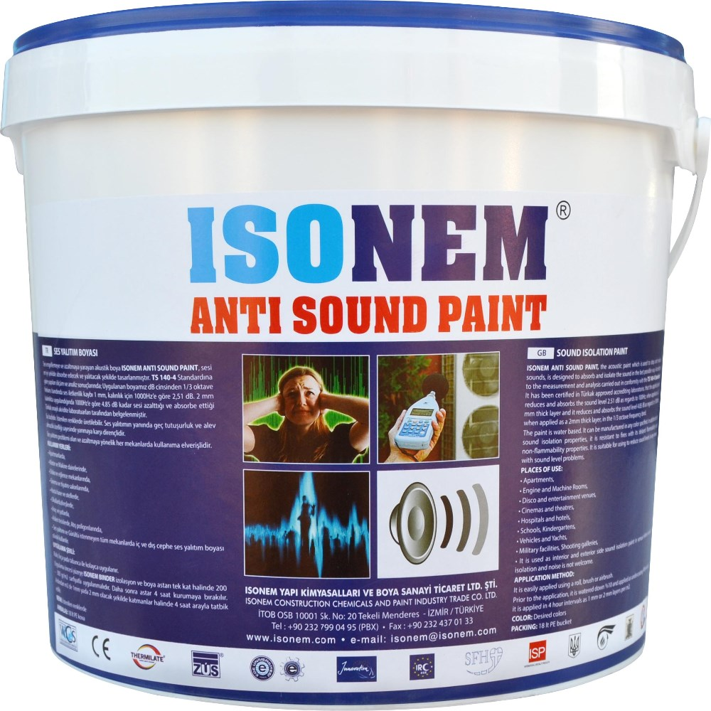 ISONEM ANTI SOUND PAINT, SOUND PROOF PAINT